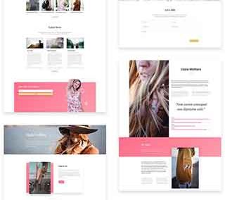 Fashion business layout pack (8 pages)
