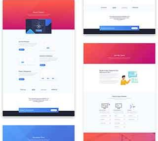 SaaS layout pack (6 pages)