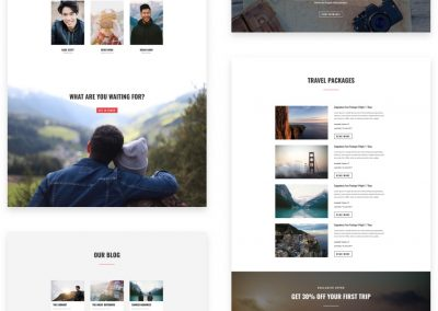 Travel Blog layout pack (8 pages)